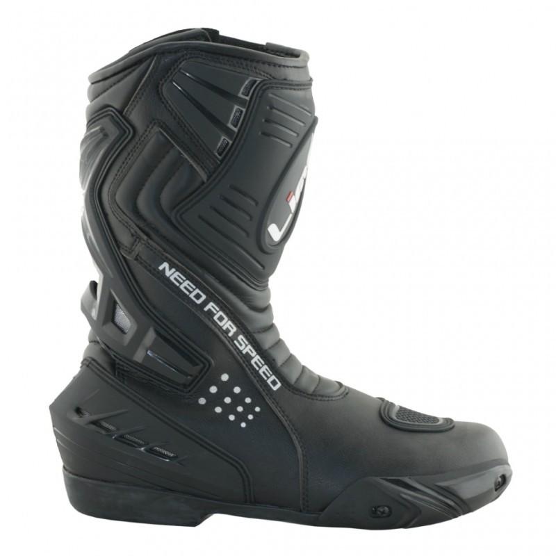 17048e8667e kožené sportovní černé boty z kvalitní hovězí usně ...