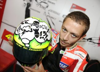 GP Aragon: Rossi si vydupal nový hliníkový rám