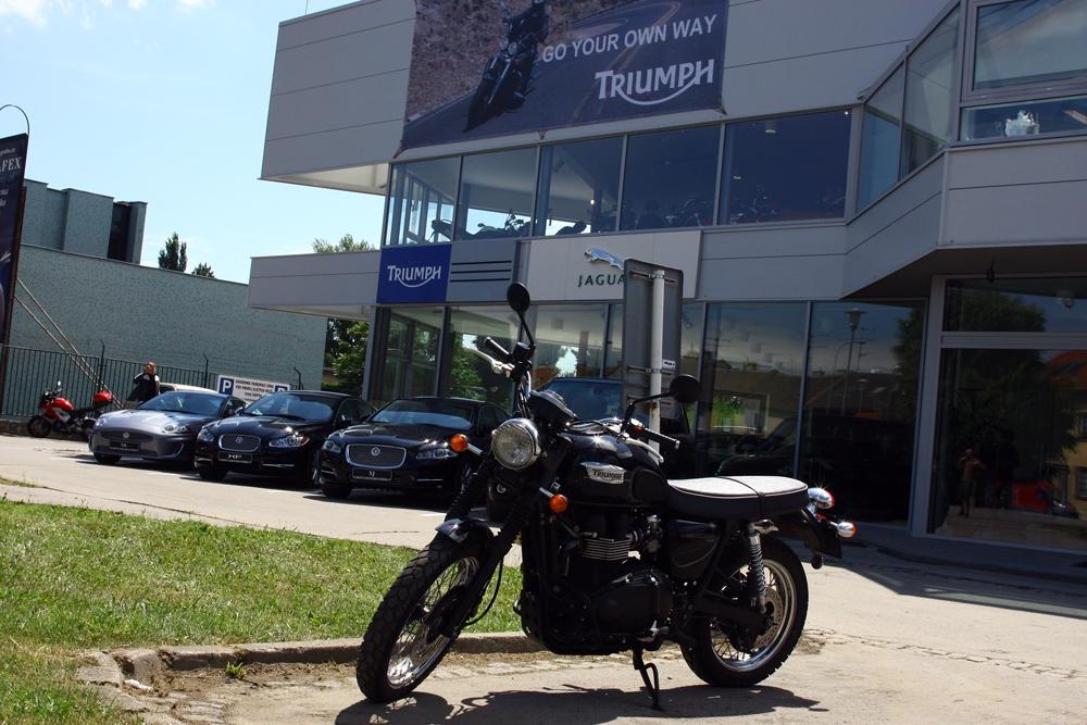 Triumph otevřel prodejnu v Brně
