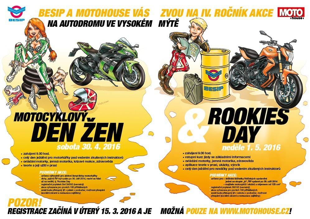 Motocyklový den žen & Rookies Day 2016 …organizační pokyny před akcí