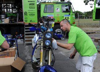 Jan Veselý v polovině Dakaru