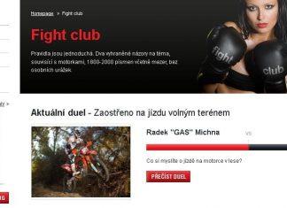 Další mač ve Fight Clubu - patří motorky do lesa?