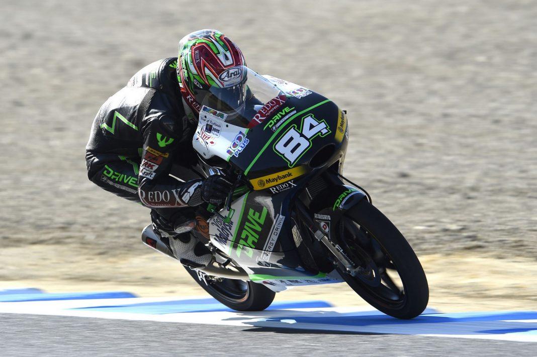Moto3:Kuba Kornfeil s osmým nejrychlejším časem