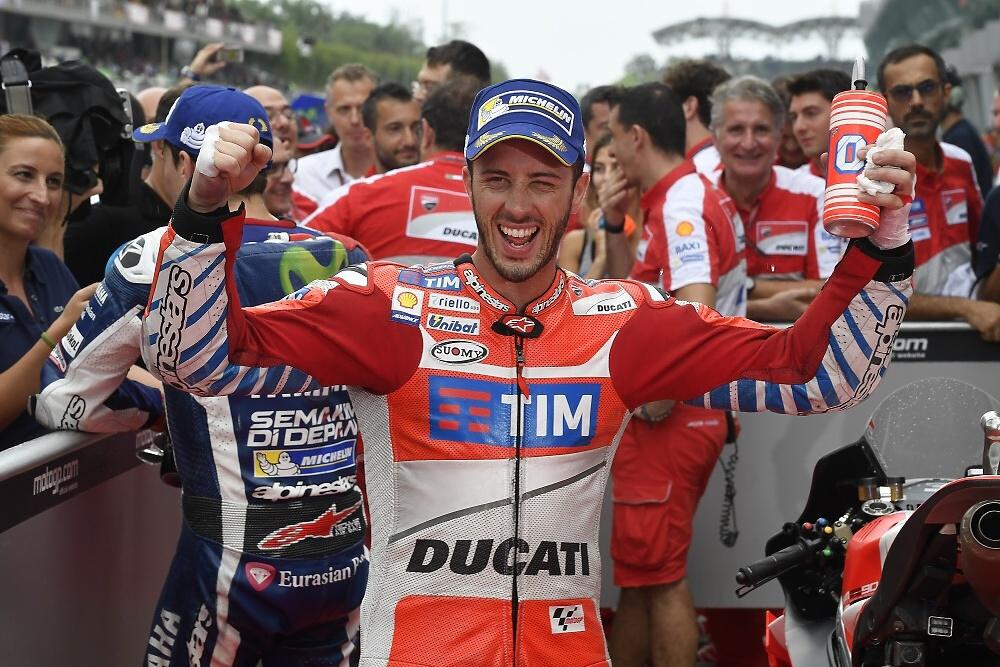 MotoGP: Andrea Dovizioso se stal devátým vítězem v letošní sezoně