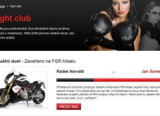 Nová rubrika: Fight club!