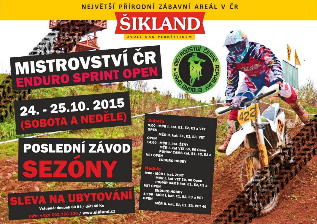 Zveme vás: MČR Enduro Sprint Open 2015