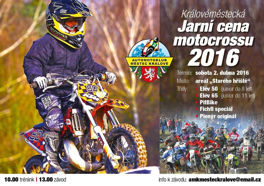 Zvláštní ustanovení závodu: Královéměstecká Jarní cena motokrosu