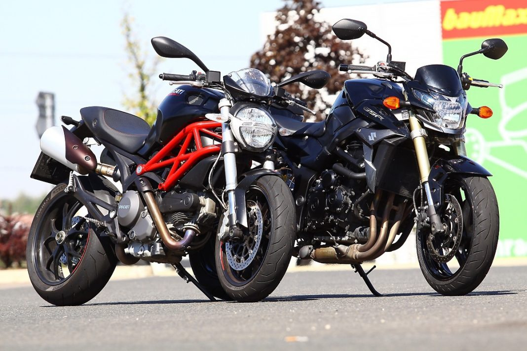 Srovnávací test Ducati Monster 796 vs. Suzuki GSR750