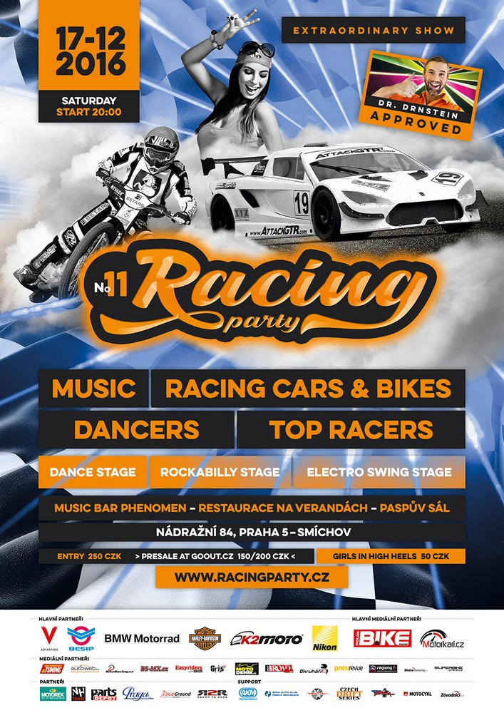 Přijďte na Racing Party a setkejte se se závodníky